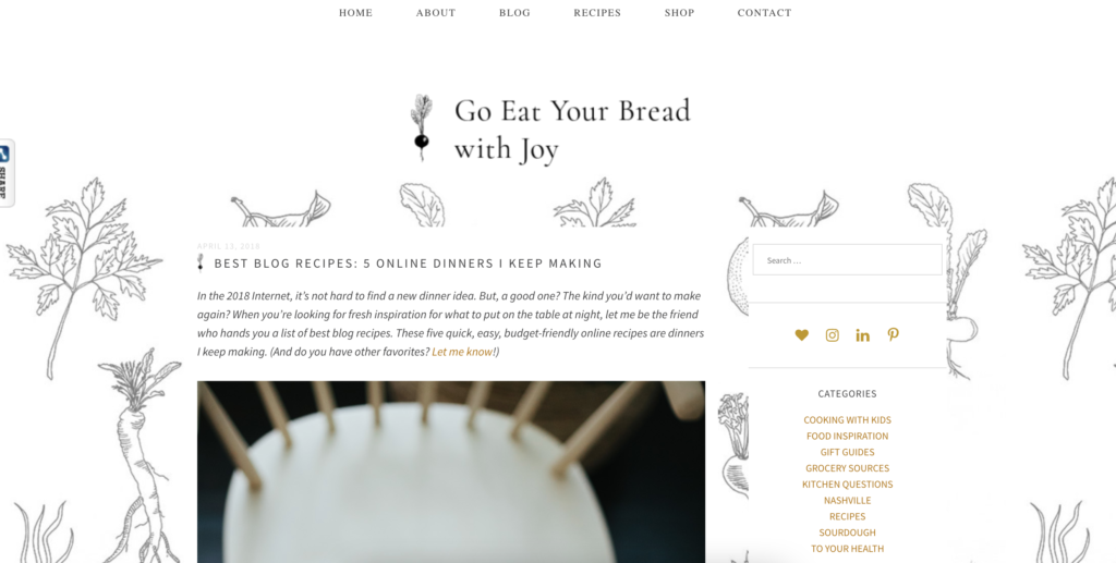 examples-of-food-blog-writing